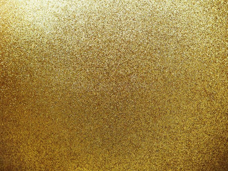 Textured of golden round ball with glitter. Close up textured of golden round ball with glitter royalty free stock photography