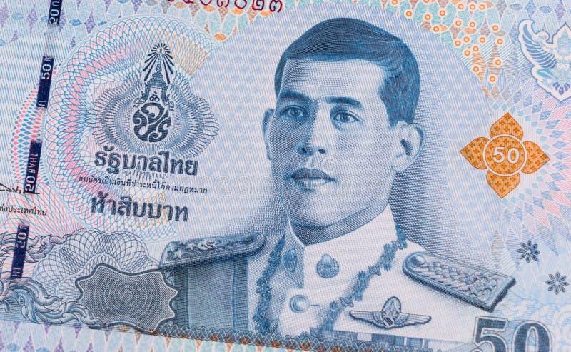 Close up of 50 Thai baht banknote. royalty free stock image