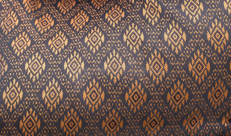 Close up thai fabric pattern for background stock photos