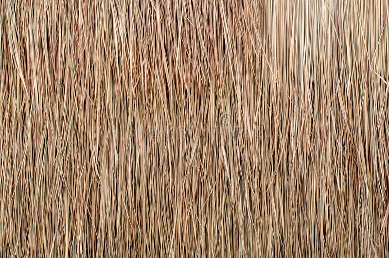 Close up of thatch roof background, hay or dry grass background royalty free stock photo