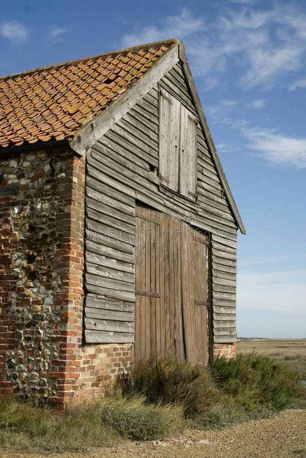 Close up of Thornham coal barn. royalty free stock photography