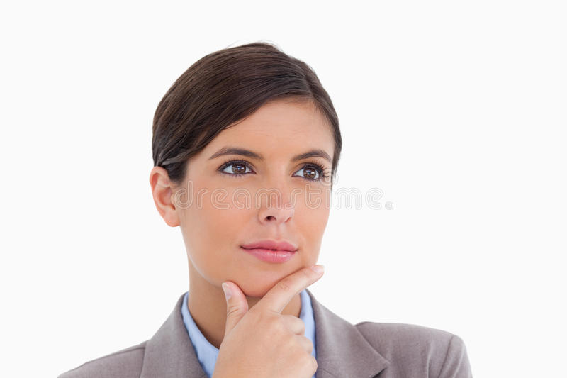Close Up Of Thoughtful Female Entrepreneur Stock Photography