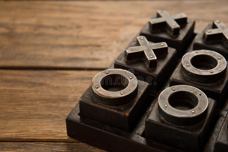 Close up of Tic Tac Toe, Noughts and crosses, X and O game royalty free stock photos