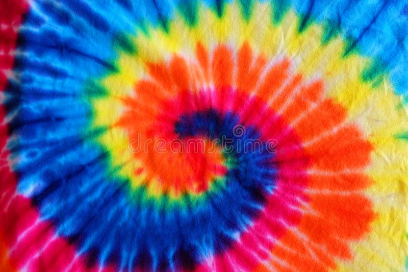 Close up tie dye fabric pattern background royalty free stock photos