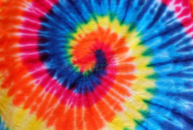 Close up tie dye fabric pattern background royalty free stock photography