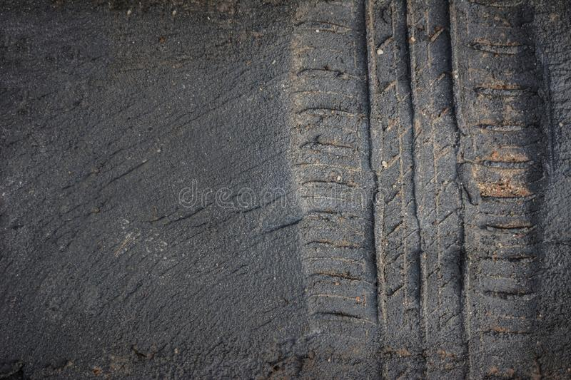 tire tracks truck on a mud royalty free stock image