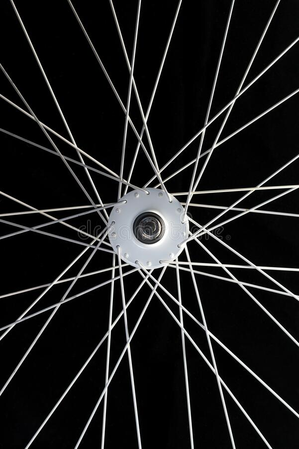 Wheel of a bicycle stock photos