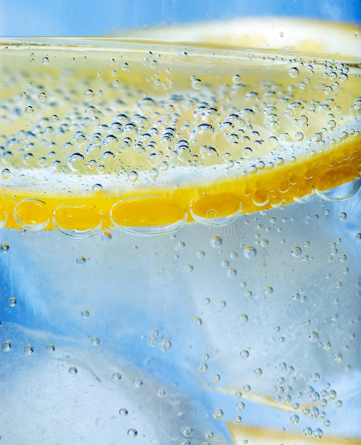 Close up of tonic and lemon royalty free stock image