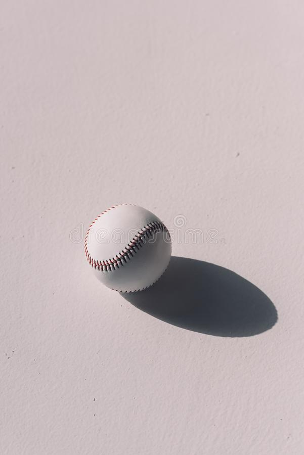 Free Close-up Top View Of Baseball Ball With Shadow Stock Images - 126703434