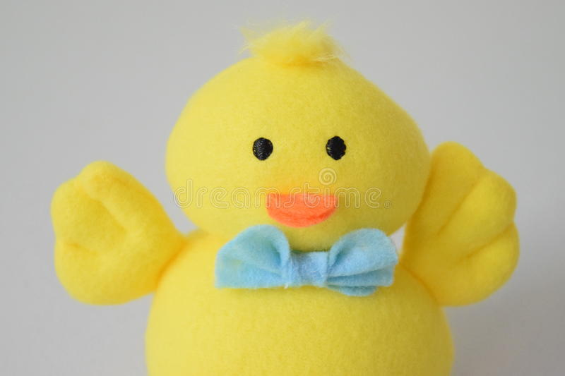 Close-up of toy Easter duck. royalty free stock photo
