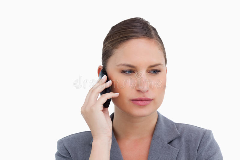Download Close Up Of Tradeswoman On Her Cellphone Stock Image - Image: 23015051