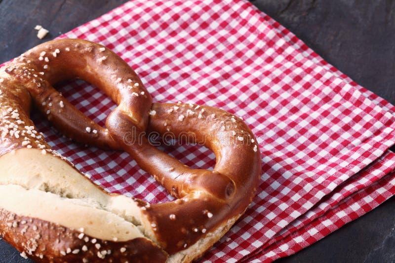 Close-up of a traditional homemade German pretzel stock photos