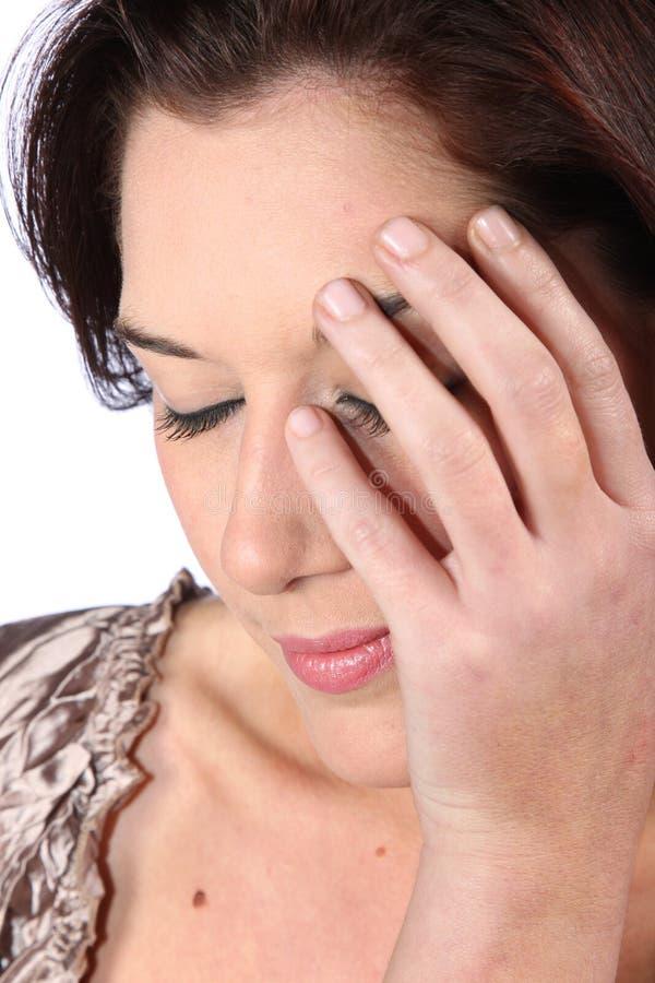 Close up triguenho bonito da mulher foto de stock royalty free