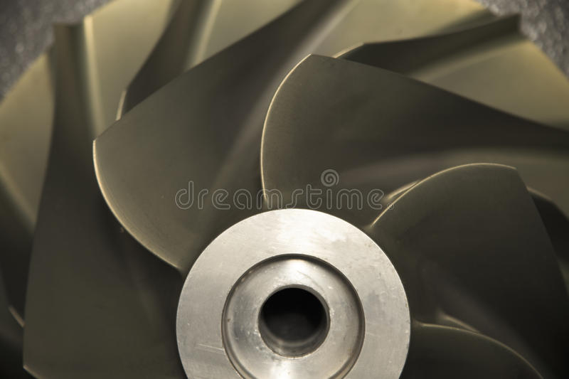 Close up Turbo-jet engine of the plane, Gas engine technology, Turbine technology for Machine or Generator stock photo