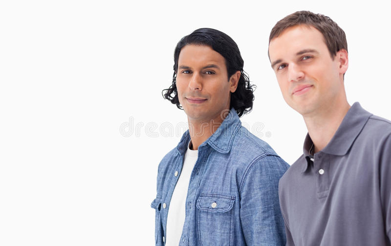 Download Close-up of two men stock image. Image of blank, handsome - 23013065