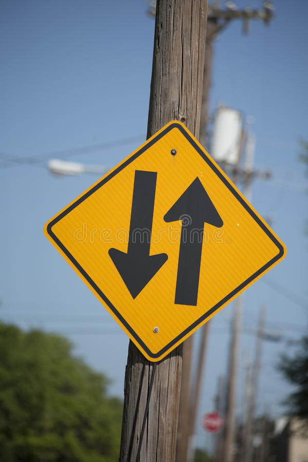 Two-Way Traffic Sign royalty free stock photo