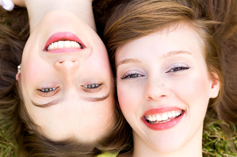 Download Close Up Of Two Women Smiling Stock Photo - Image: 15579036