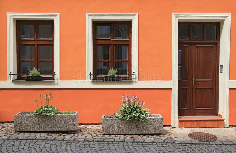 Close-up of a typical bohemia residential house stock photography
