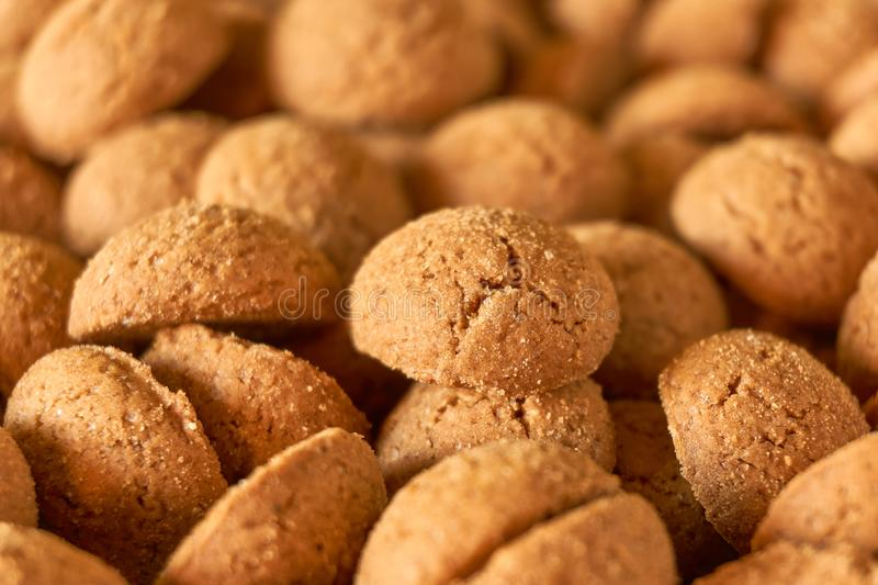 Dutch ginger nuts or pepernoten for the Dutch children`s feast Sinterklaas royalty free stock photo