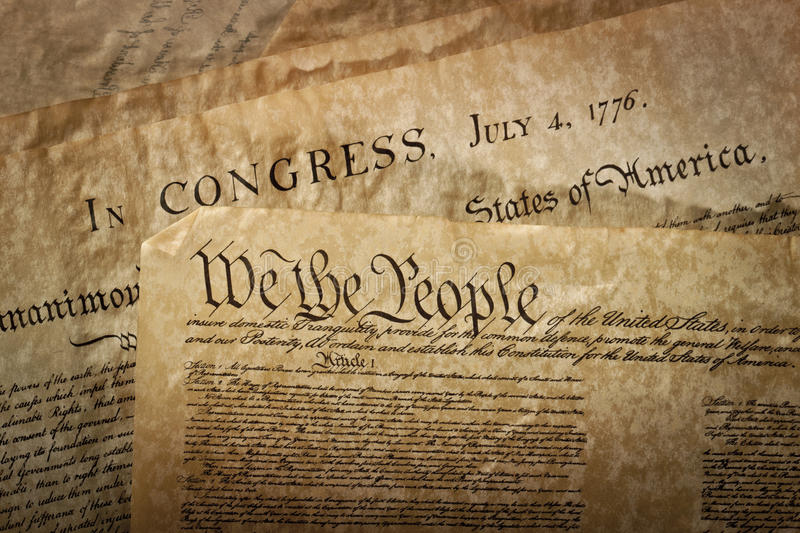 Download Close-up Of The U.S. Constitution Stock Image - Image: 18247375