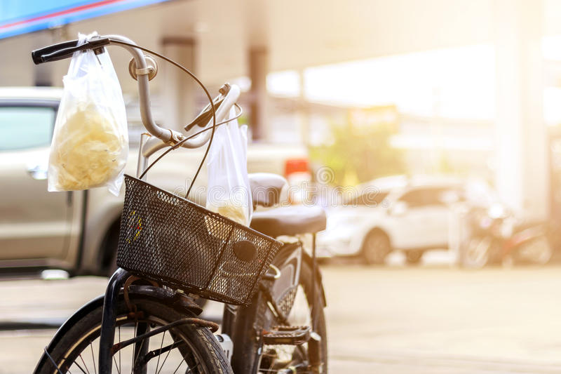 Close-up uitstekende fiets royalty-vrije stock afbeelding
