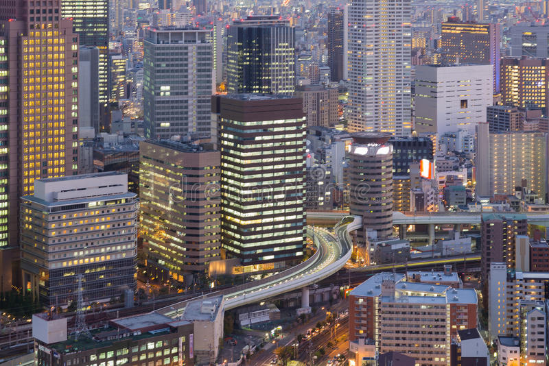 Close up, Umeda Osaka central business building royalty free stock images