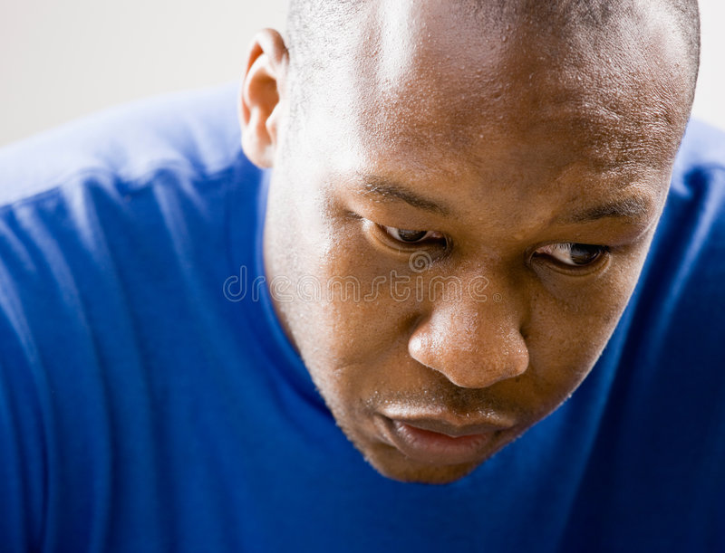 Download Close up of unhappy man stock image. Image of health, close - 6597737