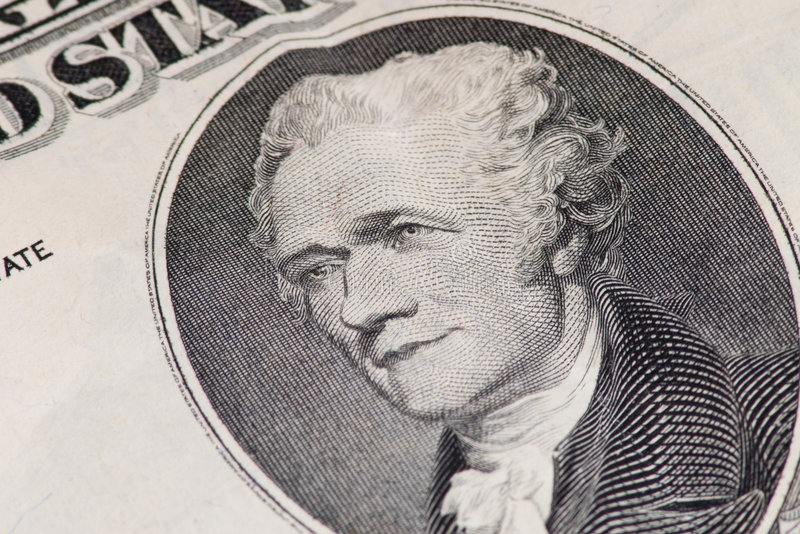 Download Close-up Of US Ten Dollar Note Stock Photo - Image: 4876628