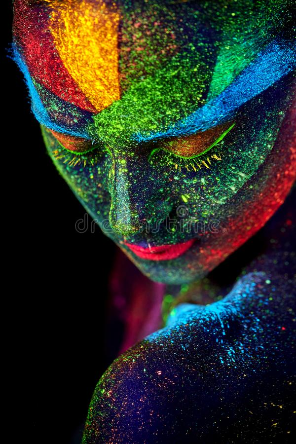 Close up UV abstract portrait royalty free stock photos