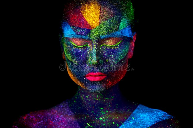 Close up UV abstract portrait royalty free stock image