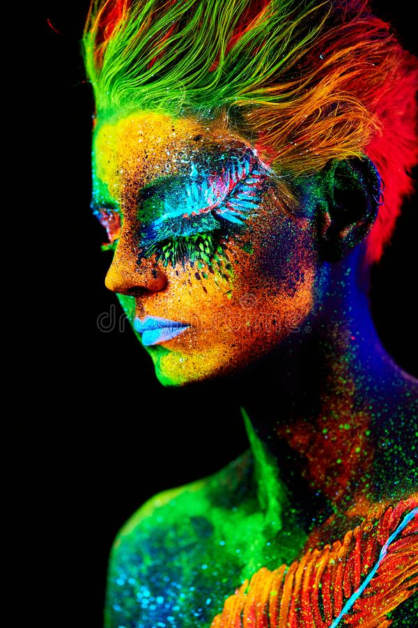 Close up UV portrait royalty free stock images