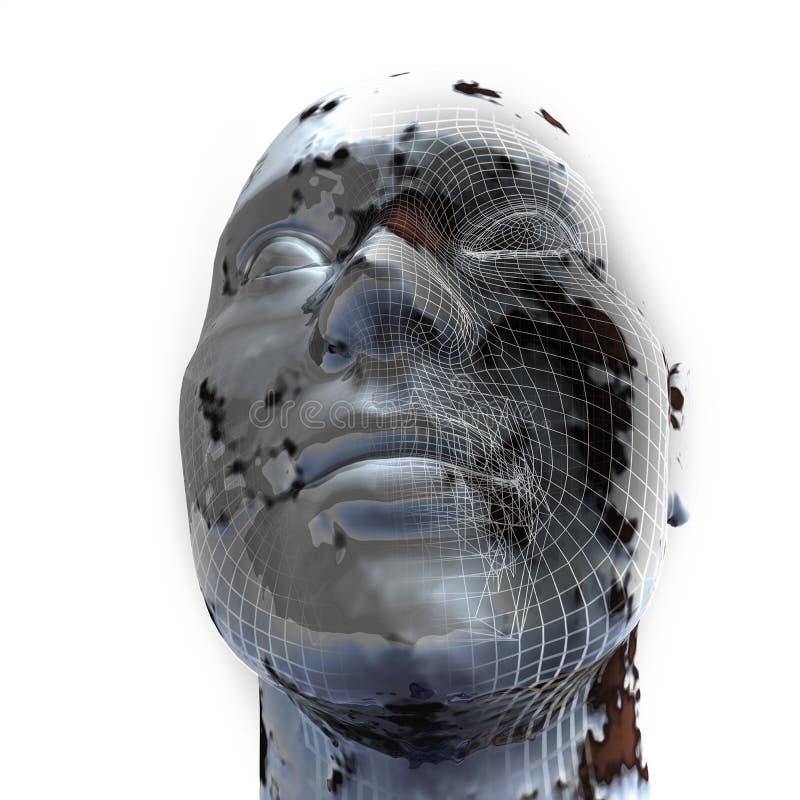 Close-up van 3d Hoofd vector illustratie