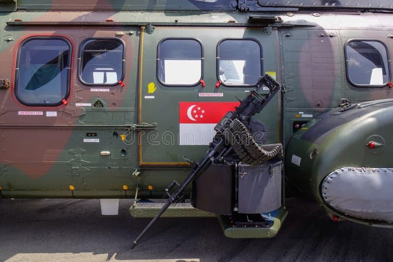 Close-up van aanvalshelikopter stock fotografie