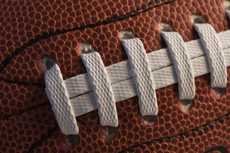 Close-up van Amerikaanse voetbal stock foto's