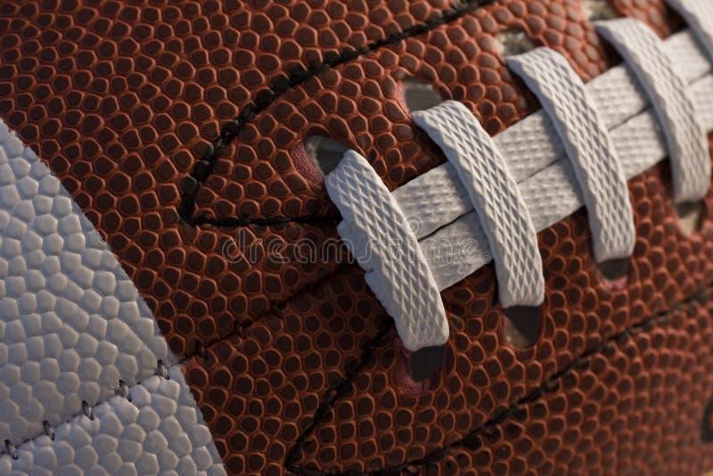 Close-up van Amerikaanse voetbal royalty-vrije stock afbeeldingen