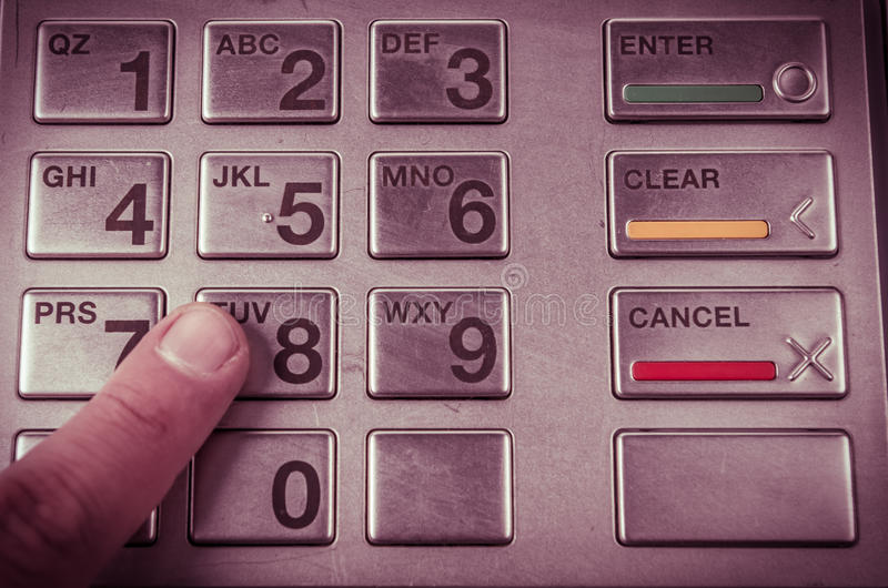 Close-up van ATM-machinetoetsenbord royalty-vrije stock fotografie