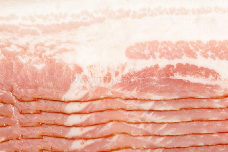 Close-up van bacon stock afbeelding