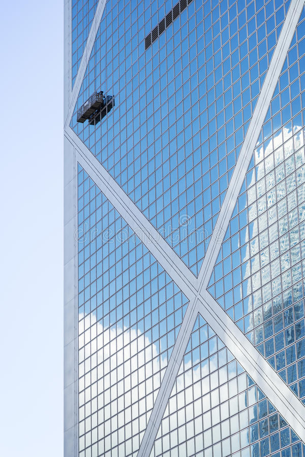 Close-up van Bank van de Toren van China in Hong Kong stock afbeeldingen
