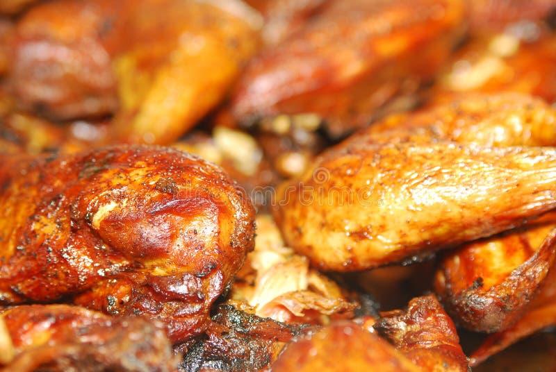 Close-up van BBQ kip stock afbeelding