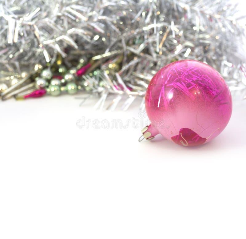 Close-up van blauwe Kerstmisballen stock foto's
