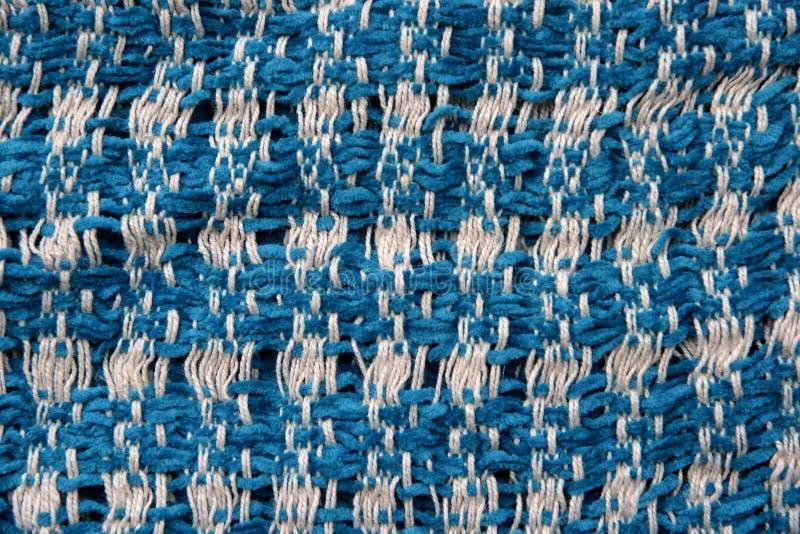 Close-up van blauwe stoffentextuur royalty-vrije stock afbeelding