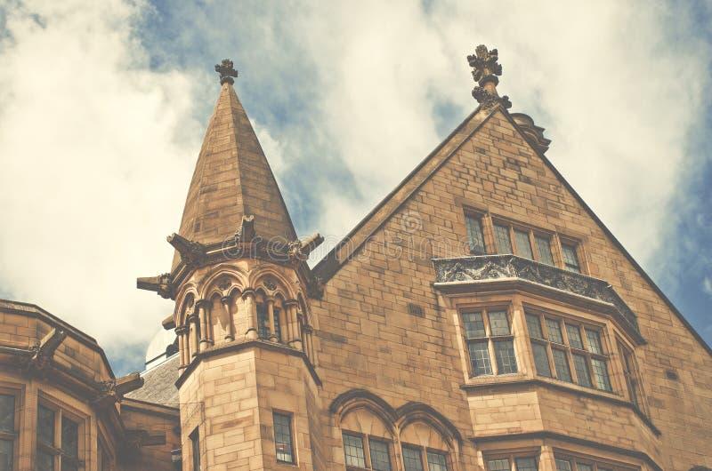 Close-up van Bradford Town Hall, West-Yorkshire, het UK royalty-vrije stock afbeeldingen