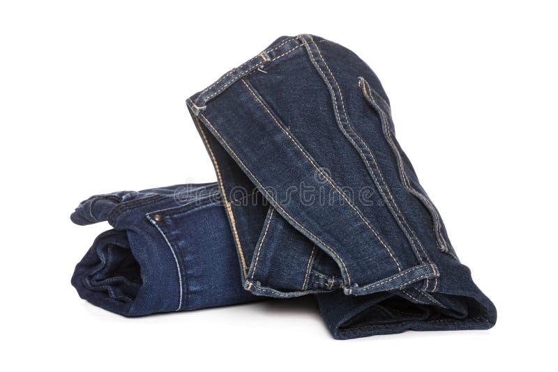 Close-up van broodjes de lichtblauwe jeans royalty-vrije stock afbeeldingen