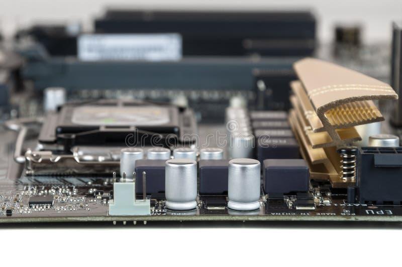 Close-up van computermotherboard stock foto