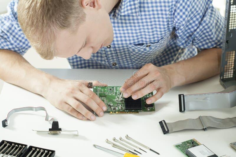 Close-up van computerwetenschap royalty-vrije stock fotografie