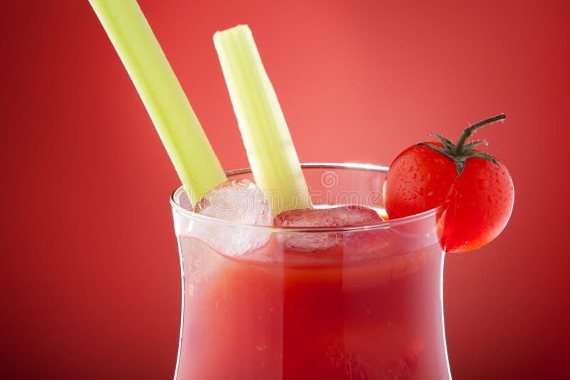 Close-up van de bloedige cocktail van Mary stock afbeeldingen