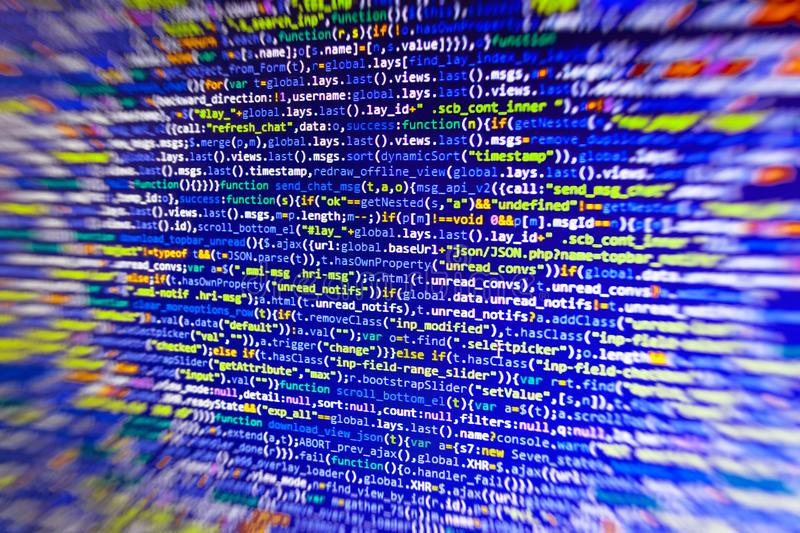 Close-up van de code van Java Script, CSS en HTML- stock foto's