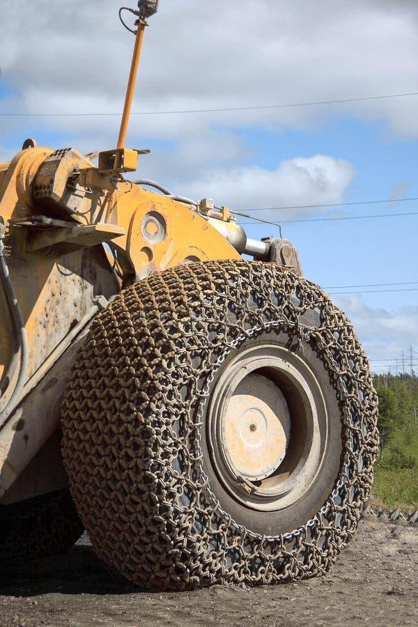 Close-up van de Grote gele bescherming van het vrachtwagenwiel royalty-vrije stock afbeelding