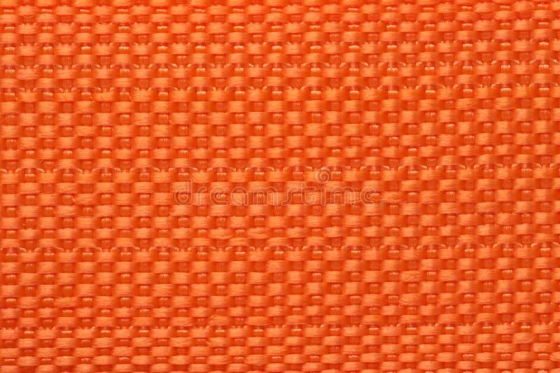 Close-up van de oranje zak van de kleurenpolyester royalty-vrije stock foto's