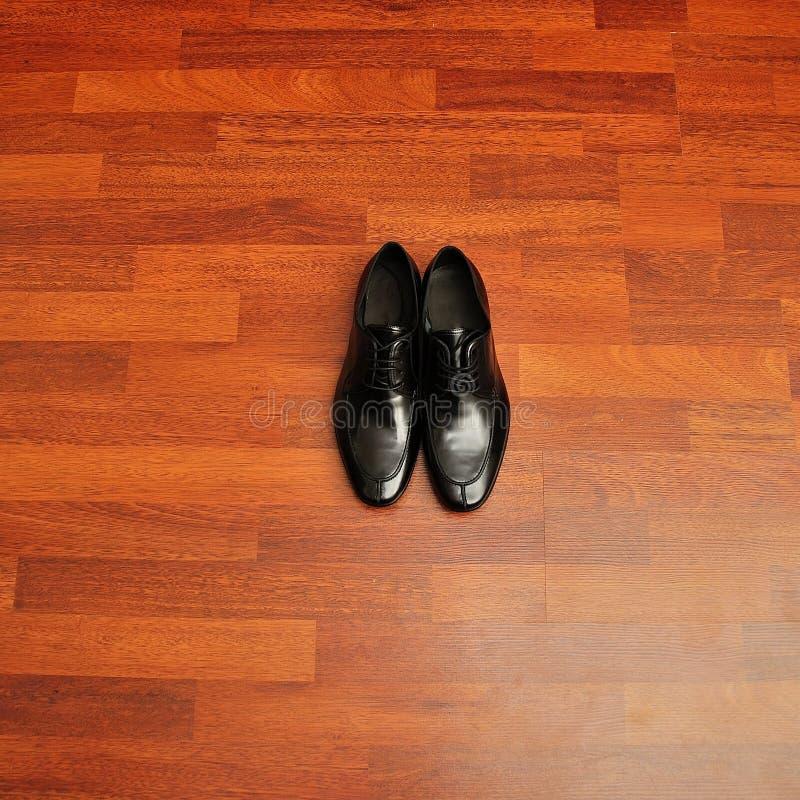 Close-up van de schoenen van elegante mensen stock fotografie